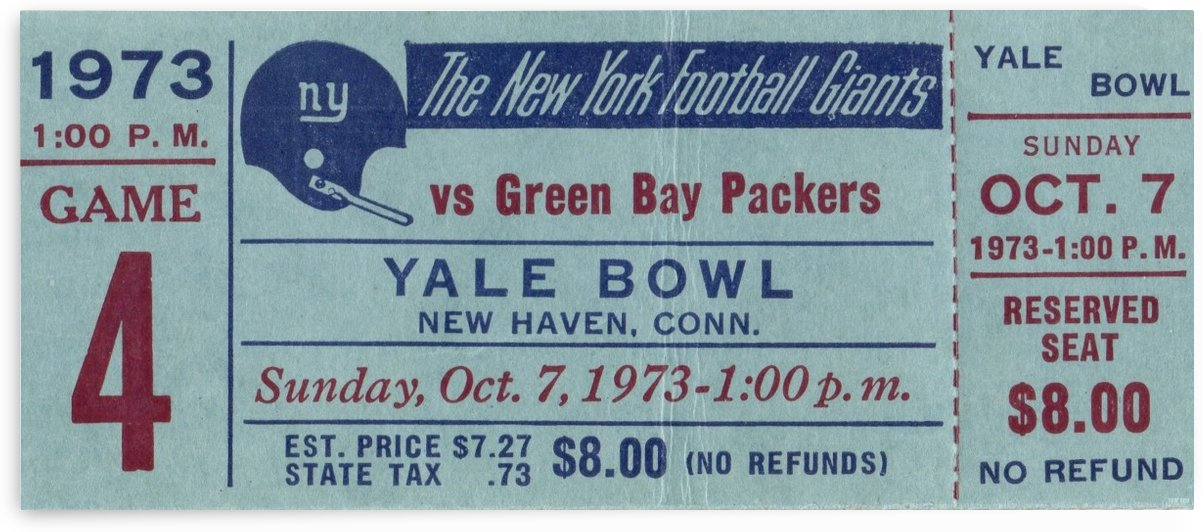 1973_National Football League_New York Giants vs. Green Bay Packers_Yale Bowl_Row One by Row One Brand