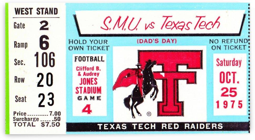 1975_College_Football_SMU vs. Texas Tech_Jones Stadium_Lubbock_Row One by Row One Brand