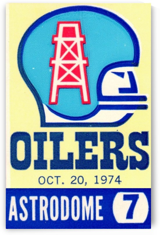 1974 Cardinals vs. Houston Oilers by Row One Brand