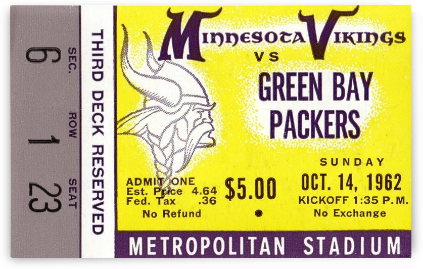 1962_National Football League_Green Bay Packers vs. Minnesota Vikings_Metropolitan Stadium_Row One by Row One Brand