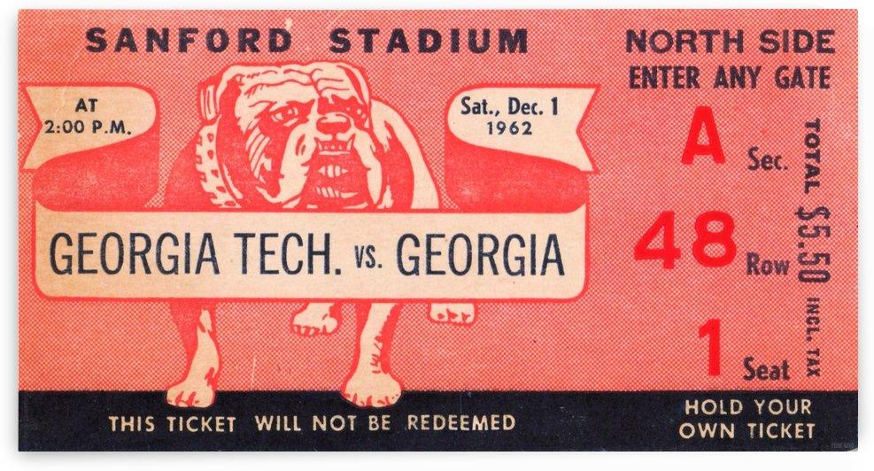 1962_College_Football_Georgia Tech vs. Georgia_Sanford Stadium_Athens Georgia_Row One by Row One Brand