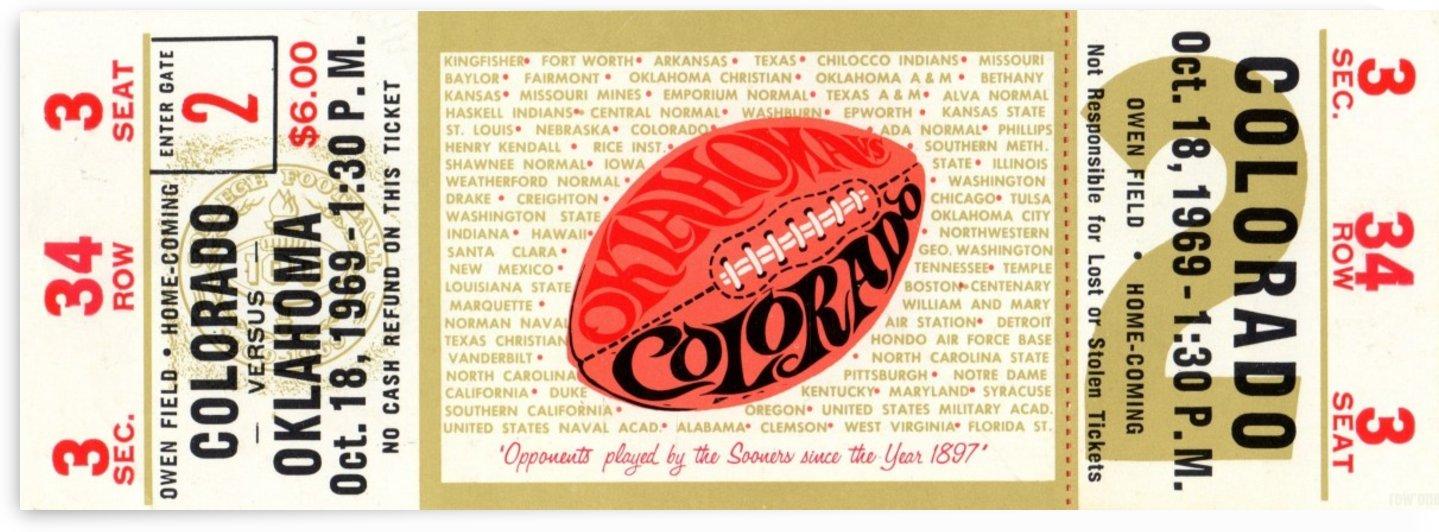 1969_College_Football_Colorado vs. Oklahoma_Owen Field_Norman_Row One by Row One Brand