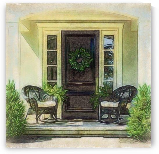 Alluring Front Door by Leslie Montgomery