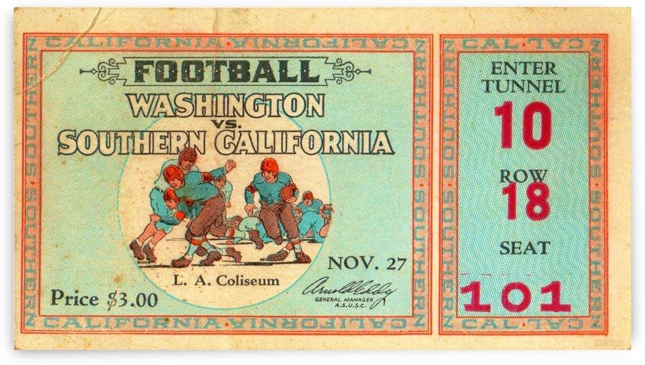 1930 Washington vs. USC by Row One Brand