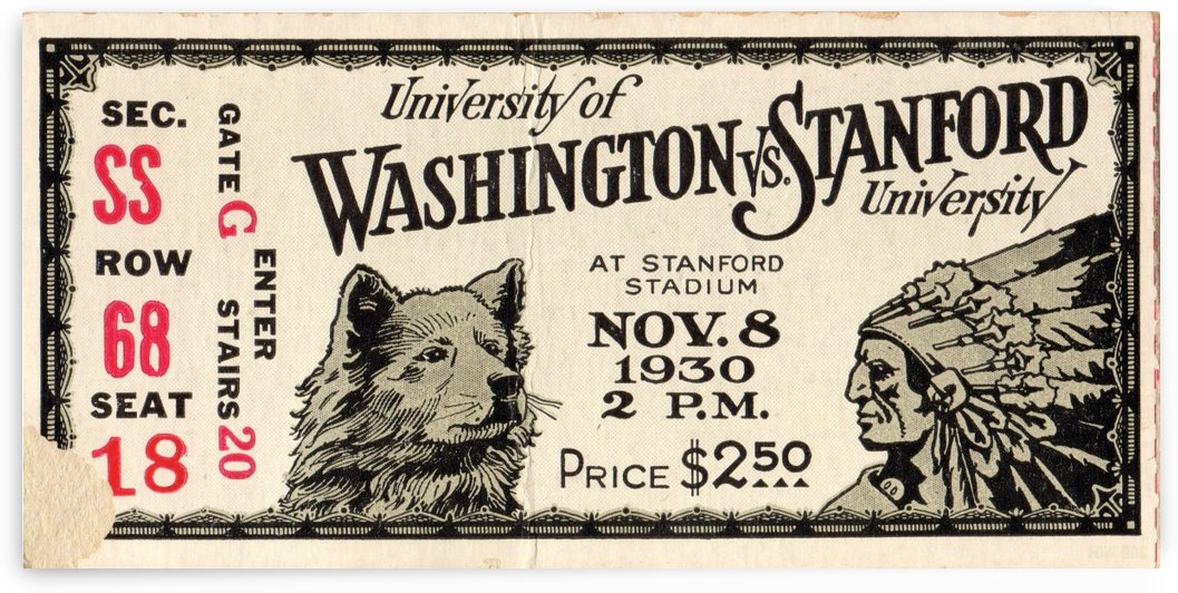 1930 Washington vs. Stanford by Row One Brand