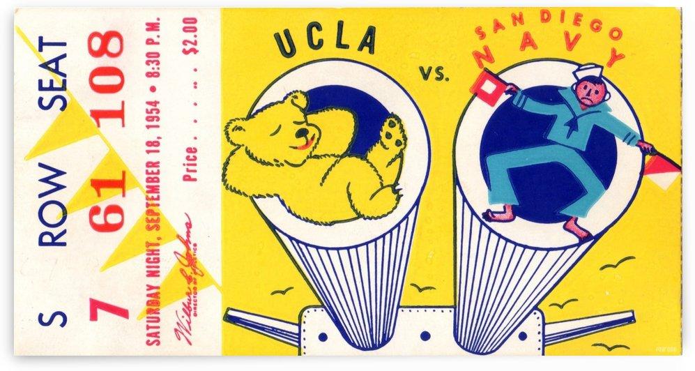 1954 Navy vs. UCLA Bruins Football Ticket Stub by Row One Brand