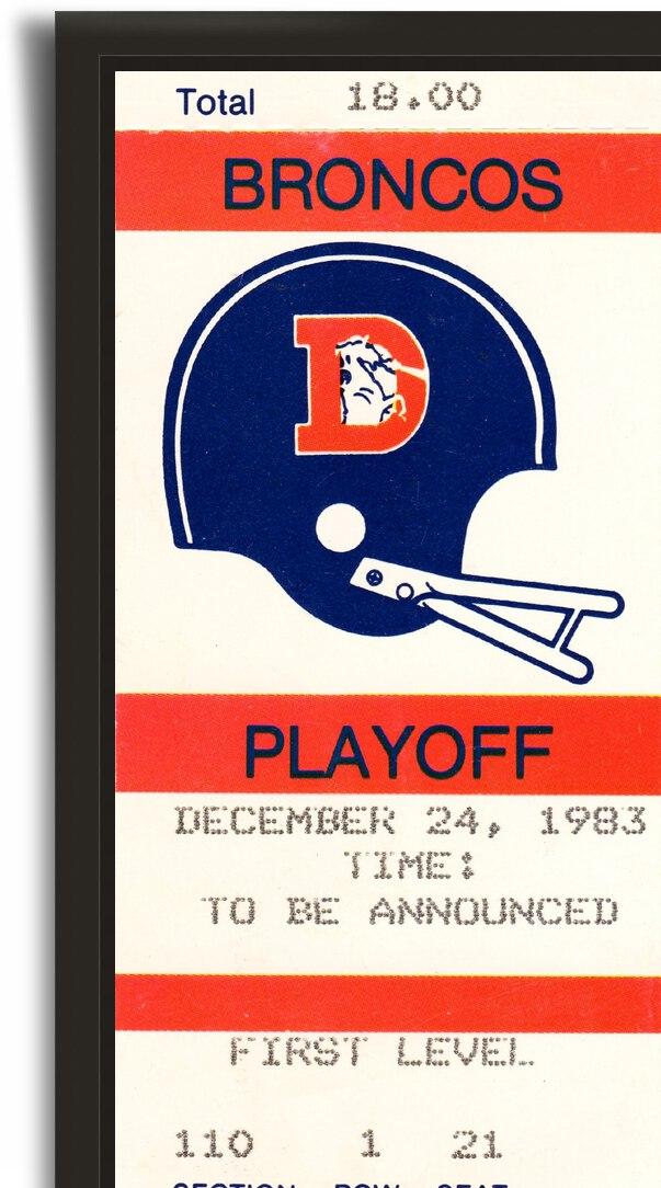1983 Denver Broncos Football Ticket Stub  by Row One Brand