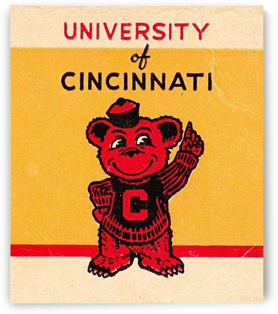 Vintage University of Cincinnati Art  by Row One Brand