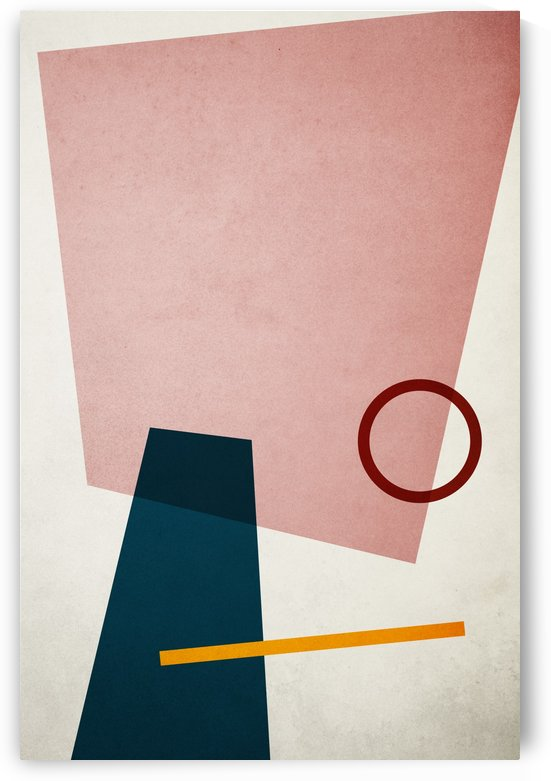 Textured Shapes 01 - Abstract Geometric Art Print by Adriano Oliveira