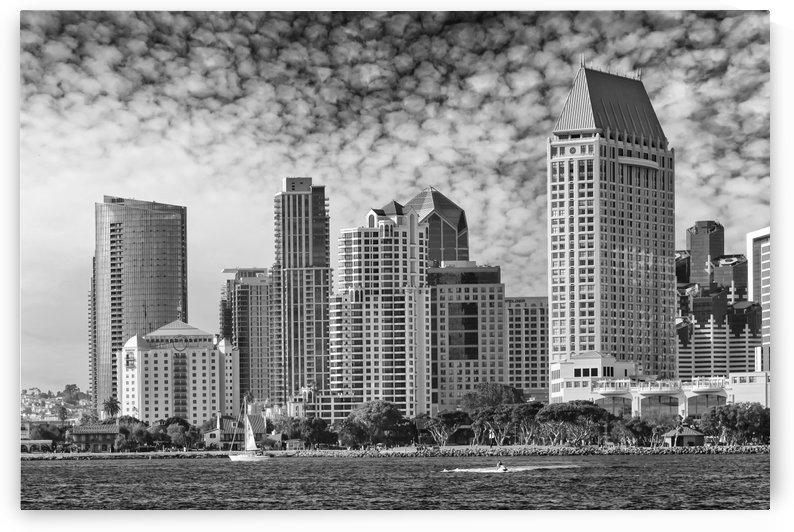 SAN DIEGO Skyline | Monochrome  by Melanie Viola