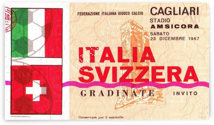 1967_Soccer_Italy vs. Switzerland_Cagliari Stadium_Row One by Row One Brand