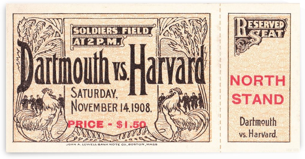 1908 Dartmouth vs. Harvard by Row One Brand