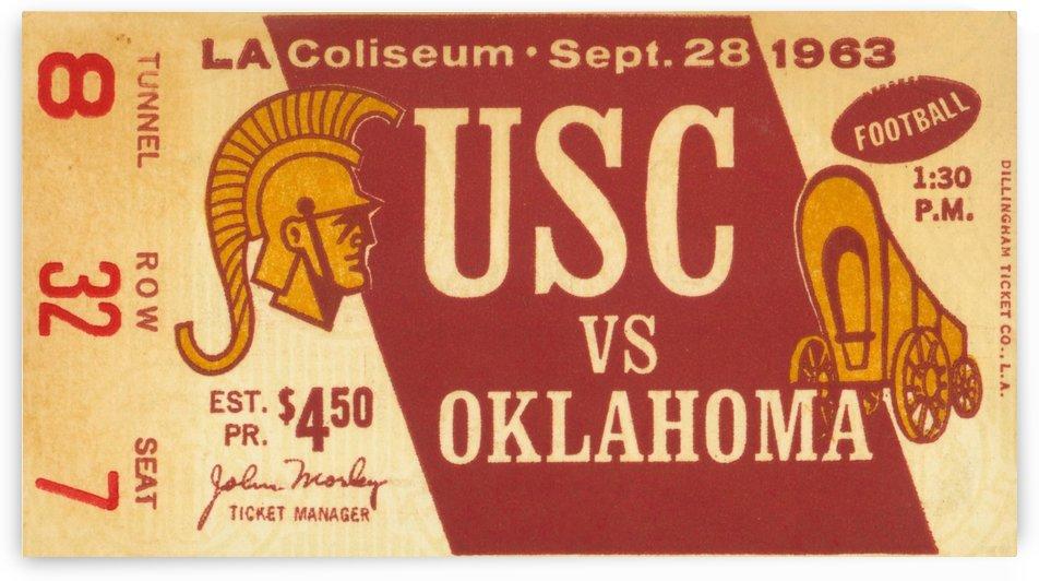1963_College_Football_Oklahoma vs. USC_Los Angeles Coliseum_Row One by Row One Brand