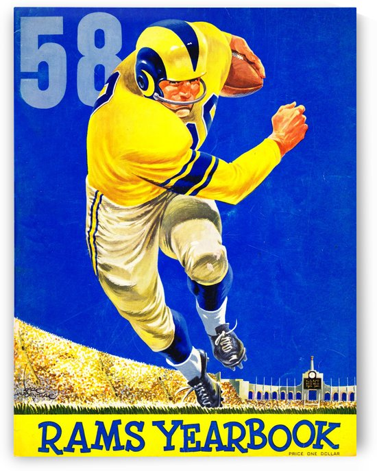 1958_National Football League_Los Angeles Rams_Yearbook_Row One by Row One Brand