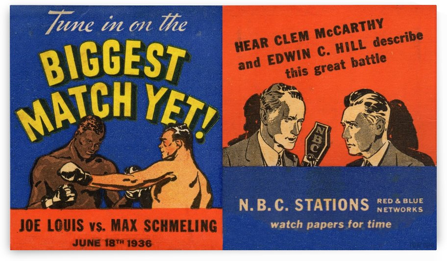 1936_Boxing_Joe Louis vs. Max Schmeling_Yankee Stadium_New York City_Row One Brand by Row One Brand