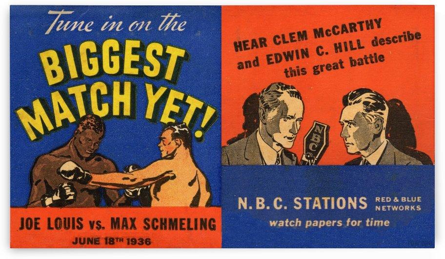 1936 Joe Louis vs. Max Schmeling by Row One Brand