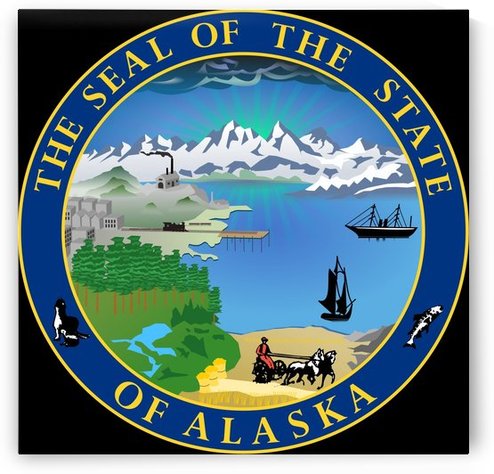 Alaska Great Seal by Fun With Flags