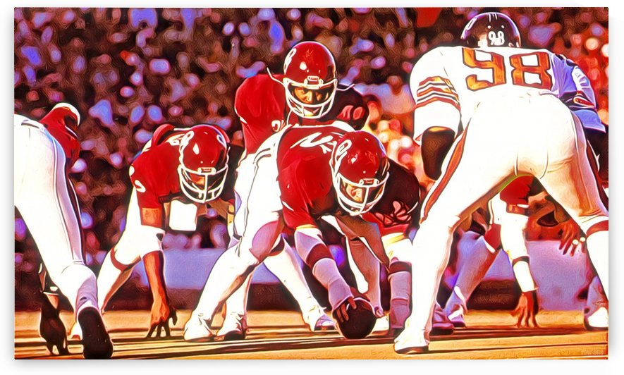1981 College Football Art Oklahoma Sooners vs. OSU Cowboys by Row One Brand