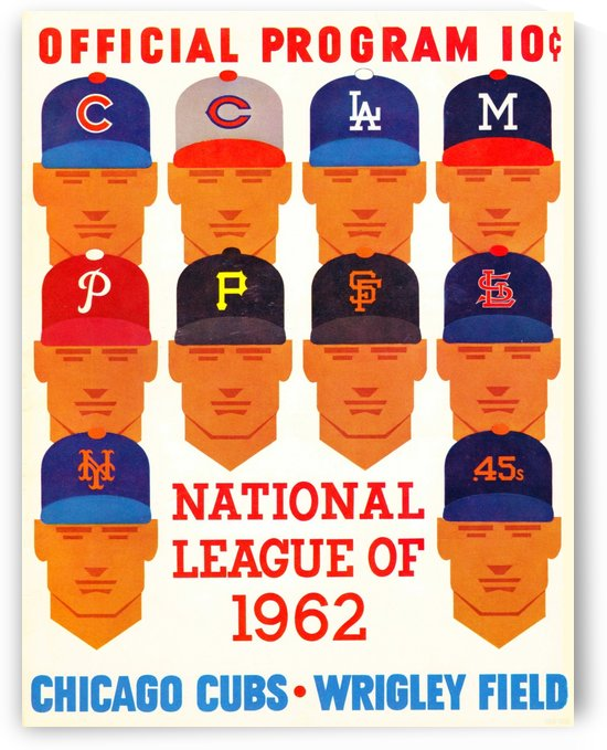 1962_Major League Baseball_Chicago Cubs_Program_Wrigley Field_Row One Brand by Row One Brand