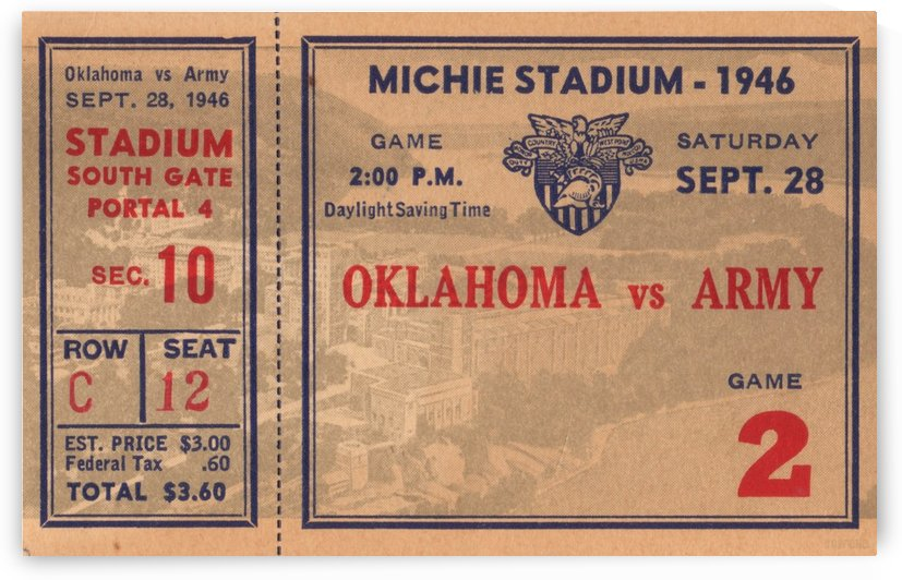 1946_College_Football_Oklahoma vs. Army_Michie Stadium_West Point_New York_Row One Brand by Row One Brand