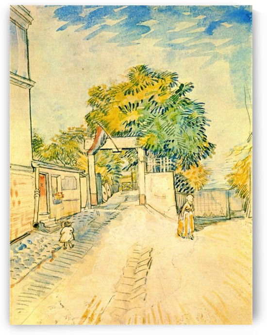 Entrance to the Moulin de la Galette by Van Gogh by Van Gogh