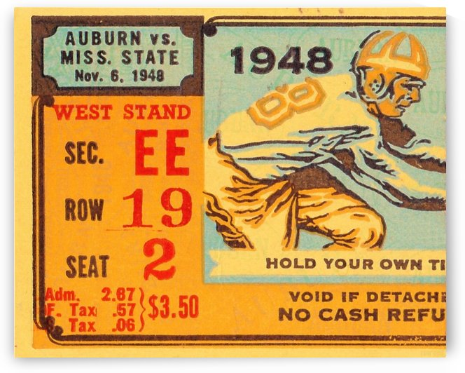 1948_College_Football_Auburn vs. Mississippi State_Legion Field_Row One Brand by Row One Brand