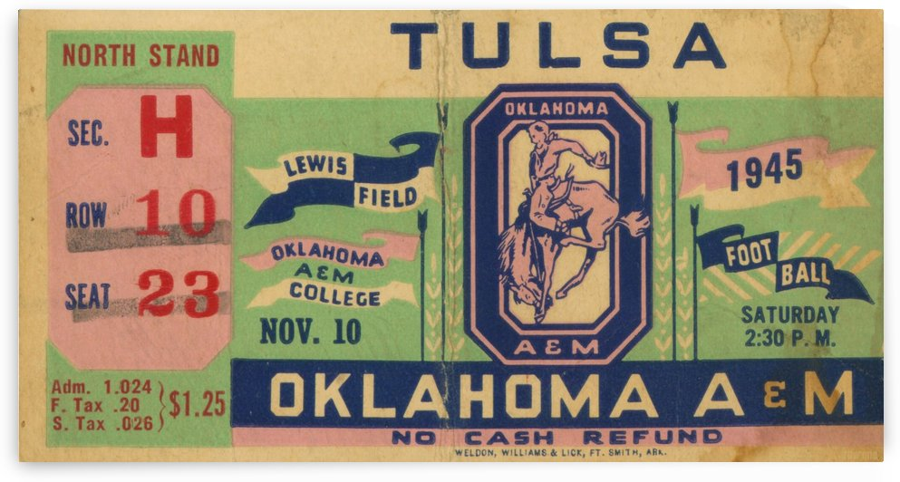 1945 Oklahoma A&M National Championship Season by Row One Brand