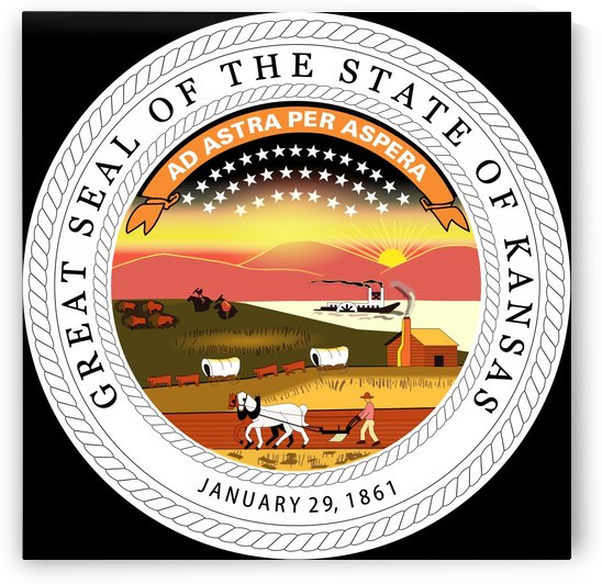 Kansas Great Seal by Fun With Flags