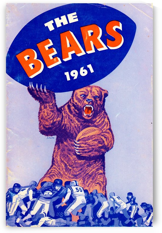 1961_National Football League_Chicago Bears_Row One Brand by Row One Brand