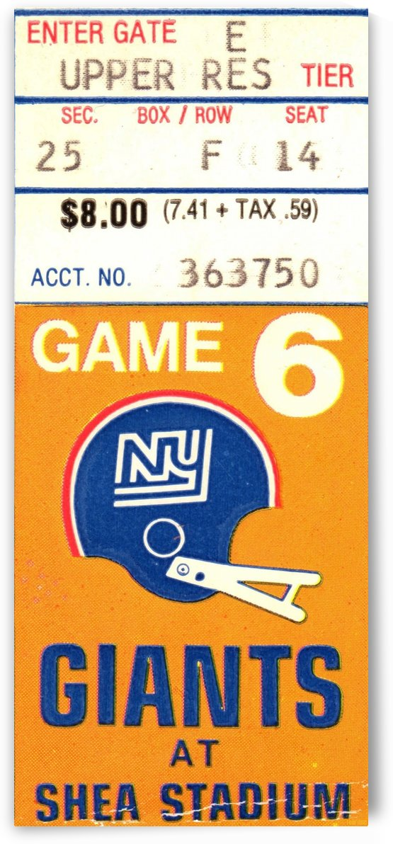 1970_National Football League_New York Giants_Shea Stadium_Row One Brand by Row One Brand