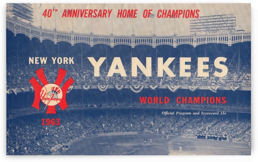 Vintage New York Yankees Baseball Art Row One Brand by Row One Brand