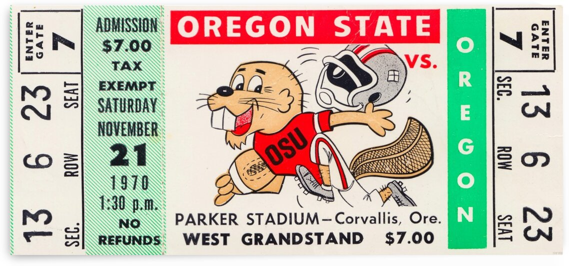 1970 Oregon State vs. Oregon by Row One Brand