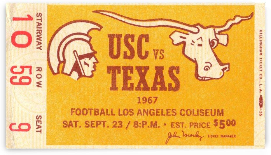 1967 USC vs. Texas  by Row One Brand