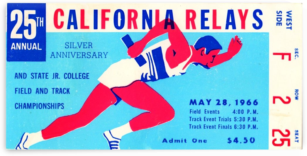 1966_Track and Field_California Relays_Row One Brand by Row One Brand