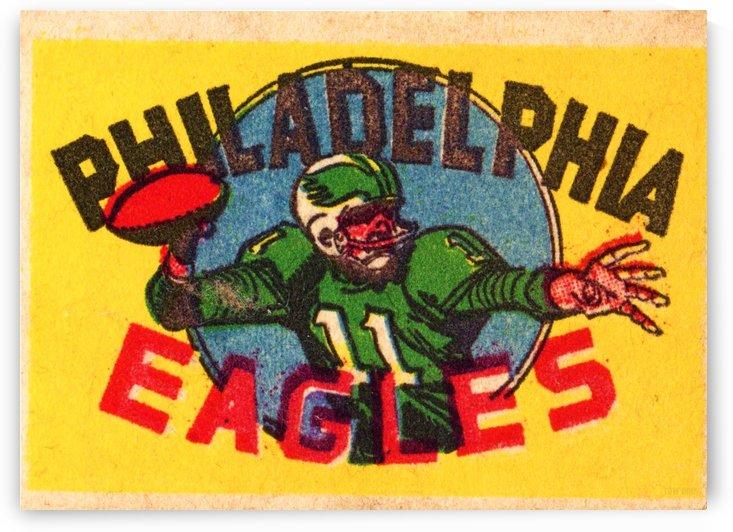 Vintage Philadelphia Eagles QB Art by Row One Brand