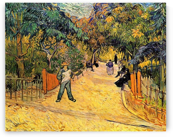 Entrance to the Public Park in Arles by Van Gogh by Van Gogh