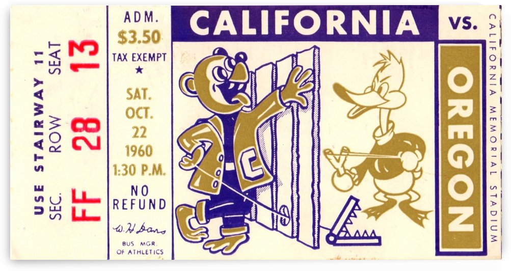 1960_College_Football_California vs. Oregon_Memorial Stadium_Row One Brand by Row One Brand