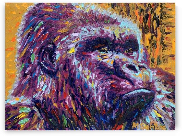 Gorilla Closeup by Marie Santos - M Santos Art