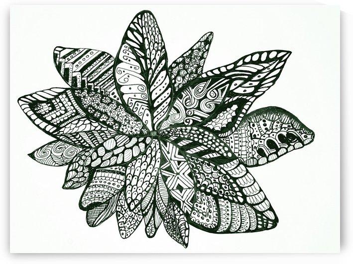 Zentangle Flower by Natasha McGhie