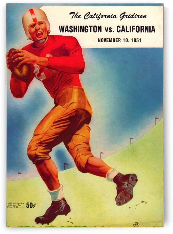 1951_College_Football_Washington vs. California_Program_California Memorial Stadium_Row One Brand by Row One Brand