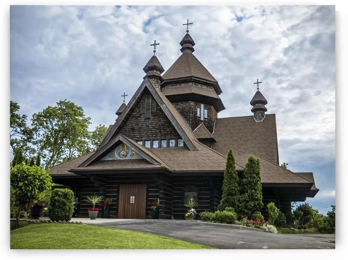 Niagara Falls Ukrainian Catholic Church   Driveway View by Leslie Montgomery