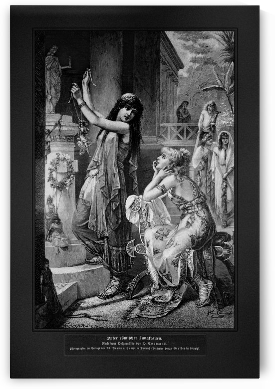 Die Gartenlaube by Heva Coomans Old Masters Engraving Reproduction by xzendor7