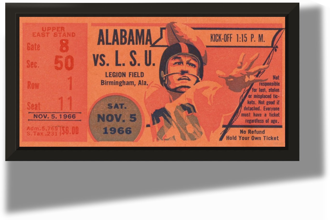 1966 Alabama vs. LSU by Row One Brand