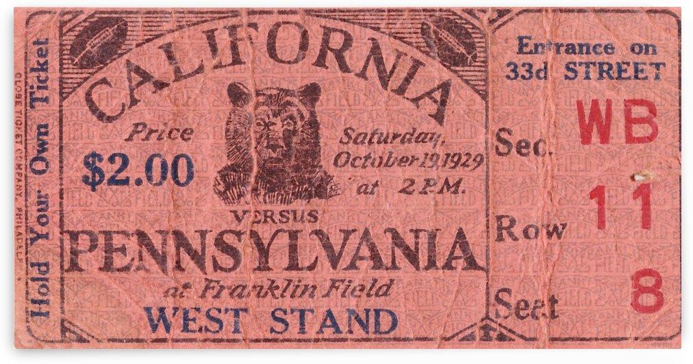 1929 California vs. Penn by Row One Brand