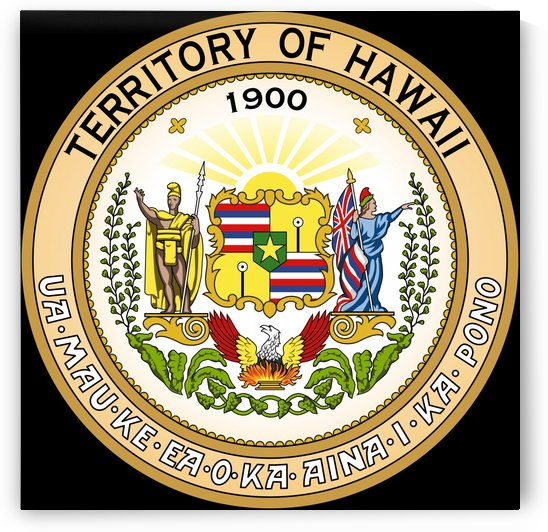 Hawaii Territory Great Seal by Fun With Flags
