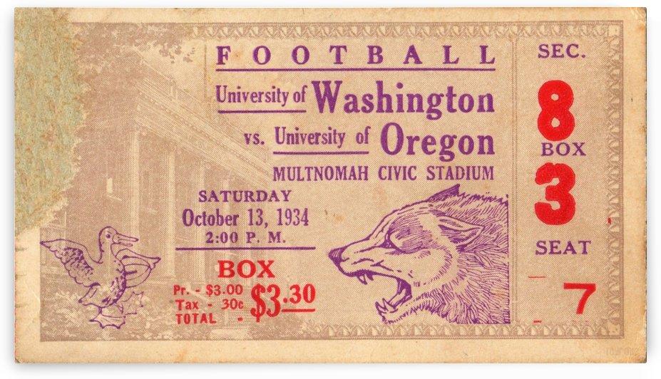 1934 Oregon vs. Washington by Row One Brand