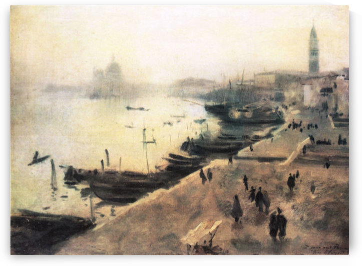 Venice in bad weather by John Singer Sargent by John Singer Sargent