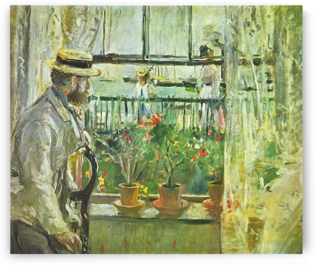 Eugene Manet on the Isle of Wight by Morisot by Morisot