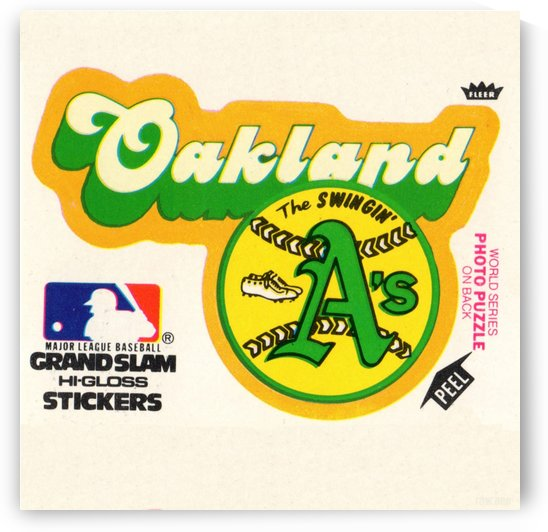Row One Brand 1978 Oakland As Fleer Decal Art Reproduction by Row One Brand