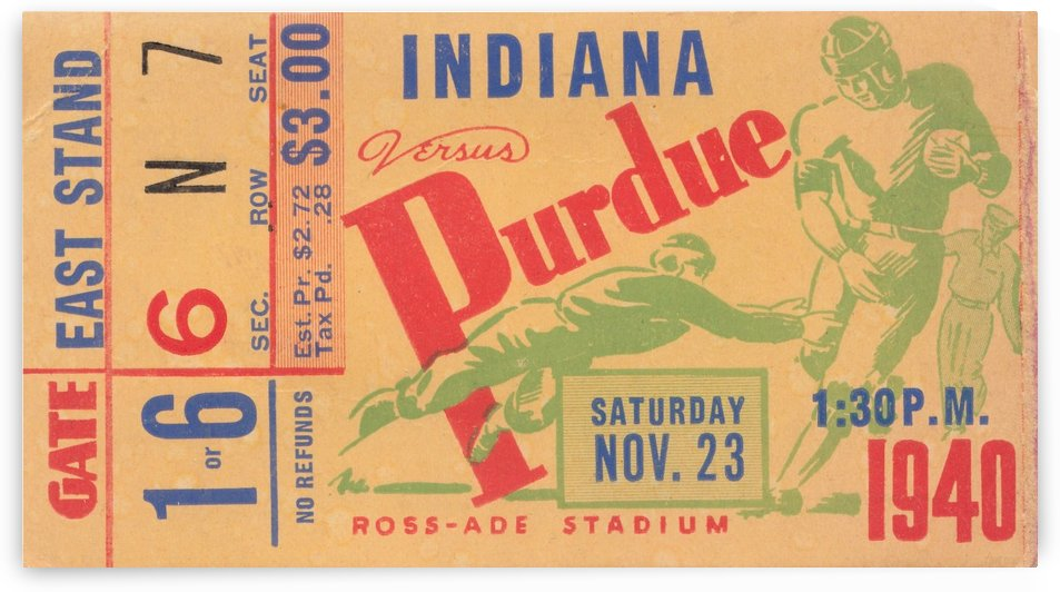 1940 Indiana vs. Purdue  by Row One Brand